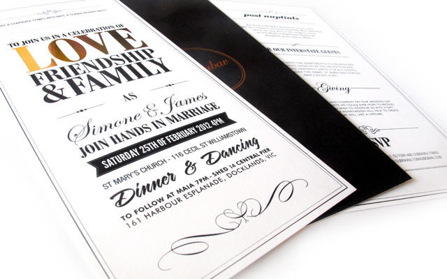 Wedding Invitations + Gift Vouchers
